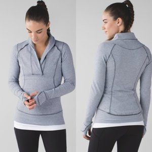 Lululemon Think Fast Pullover Gray Size 4